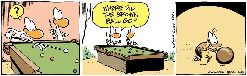 Swamp Cartoon - Brown BallJune 12, 2003