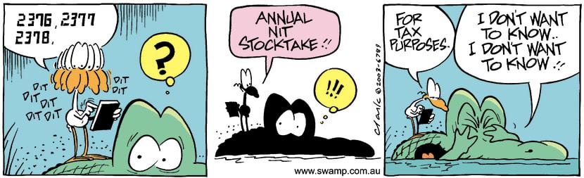 Swamp Cartoon - StocktakeJune 18, 2003