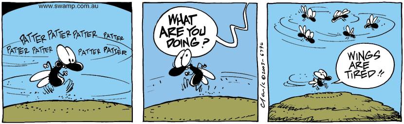 Swamp Cartoon - RunningJune 24, 2003