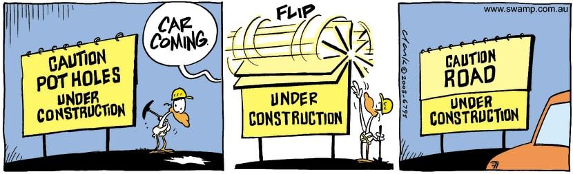 Swamp Cartoon - Under ConstructionJune 25, 2003