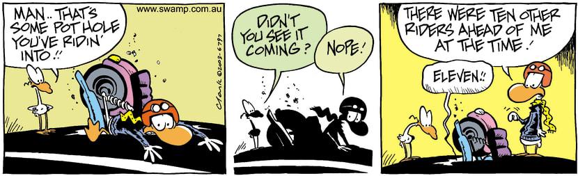 Swamp Cartoon - Pot HolesJune 27, 2003