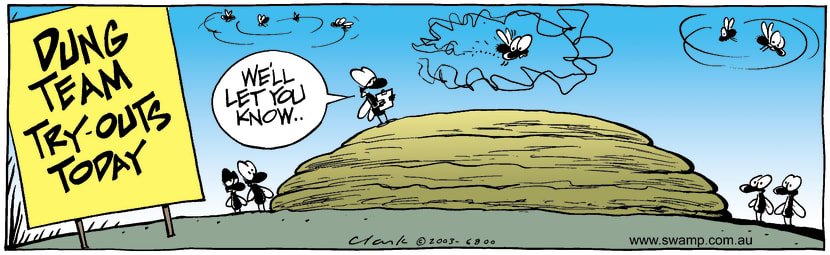 Swamp Cartoon - Dung TryoutsJuly 1, 2003