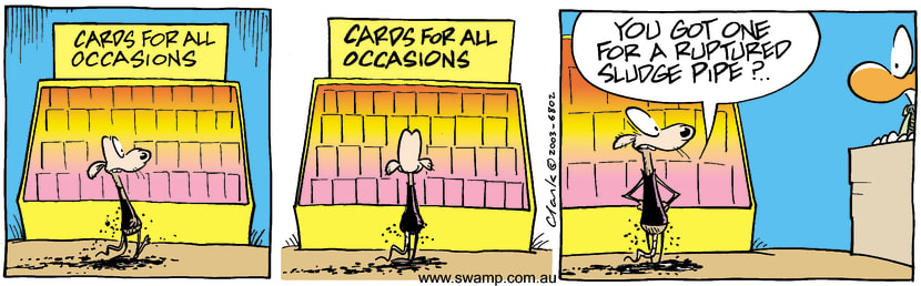 Swamp Cartoon - CardsJuly 3, 2003