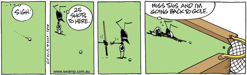 Swamp Cartoon - SnookeredJuly 10, 2003