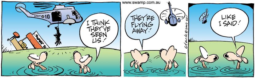 Swamp Cartoon - RescueJuly 14, 2003
