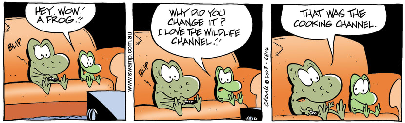 Swamp Cartoon - Frog ChannelJuly 17, 2003