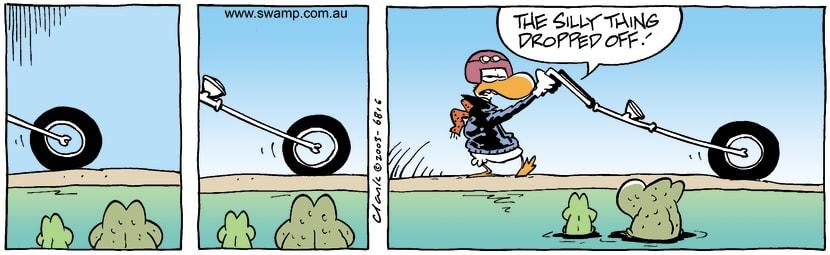 Swamp Cartoon - BikerJuly 19, 2003