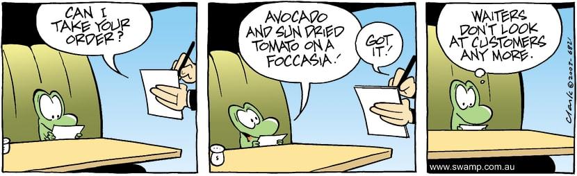 Swamp Cartoon - Mort Cafe 1July 25, 2003