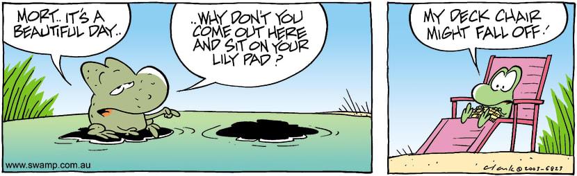Swamp Cartoon - Lily PadJuly 28, 2003