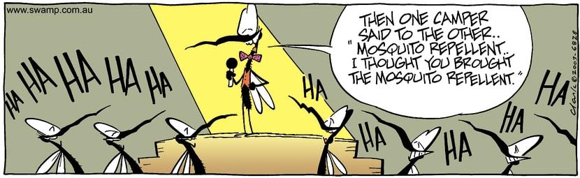 Swamp Cartoon - ComedianAugust 2, 2003