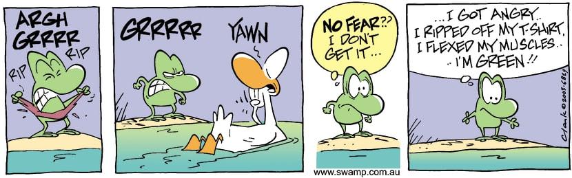Swamp Cartoon - HulkAugust 4, 2003