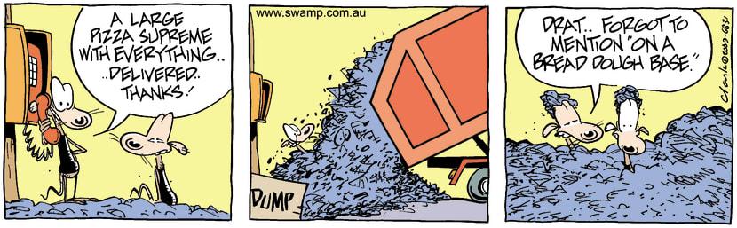 Swamp Cartoon - PizzaAugust 6, 2003