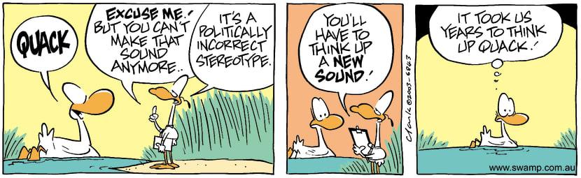 Swamp Cartoon - QuackAugust 20, 2003
