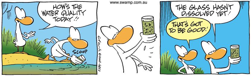 Swamp Cartoon - waterSeptember 1, 2003