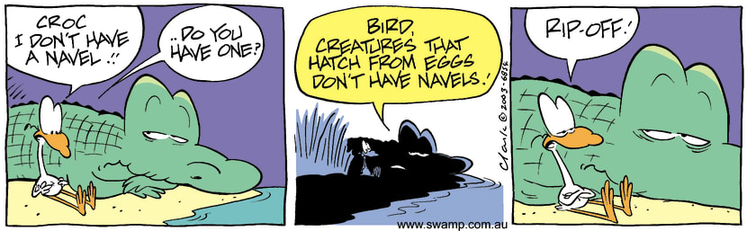 Swamp Cartoon - Navel 2September 2, 2003
