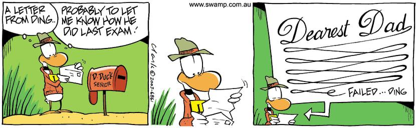 Swamp Cartoon - Exam LetterSeptember 10, 2003