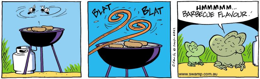Swamp Cartoon - Swamp Flies BBQ ComicJanuary 26, 2017