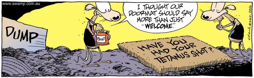Swamp Cartoon - Welcome MatSeptember 13, 2003