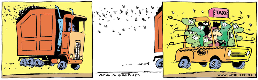 Swamp Cartoon - Swamp Flies Garbage ComicOctober 25, 2014