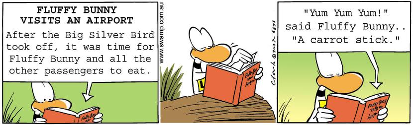 Swamp Cartoon - Fluffy Bunny 3September 26, 2003