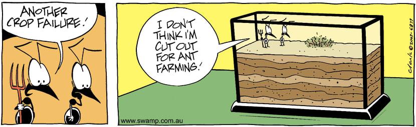 Swamp Cartoon - Crop FailureOctober 1, 2003