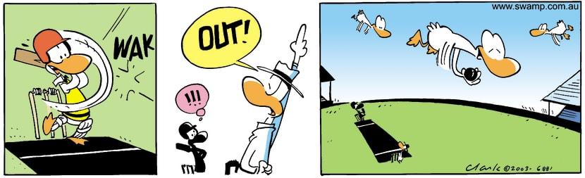 Swamp Cartoon - Swamp Duck Cricket ComicOctober 3, 2003