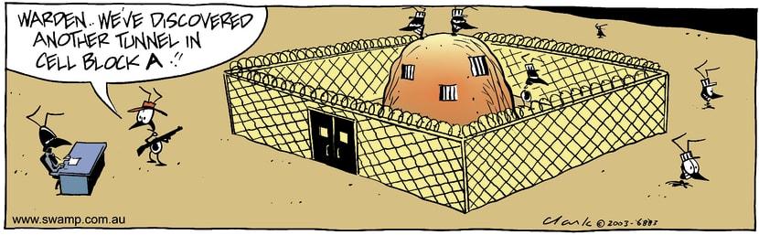 Swamp Cartoon - Cell Block AOctober 6, 2003