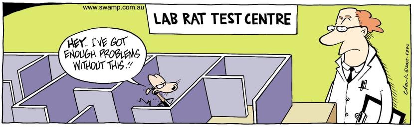 Swamp Cartoon - Lab Rat TestOctober 7, 2003