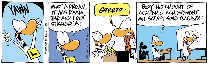 Swamp Cartoon - Sweet DreamsOctober 9, 2003