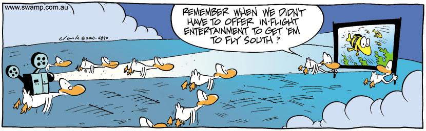 Swamp Cartoon - InFlightOctober 14, 2003