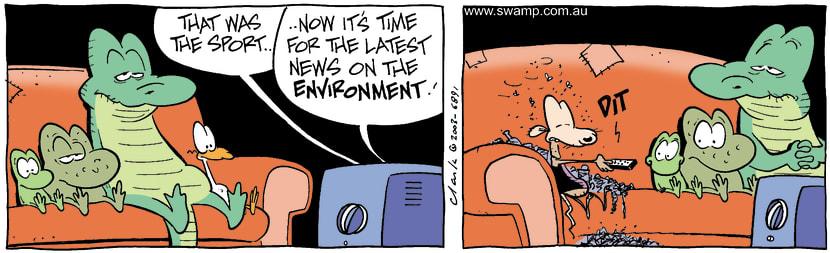 Swamp Cartoon - SlobOctober 15, 2003