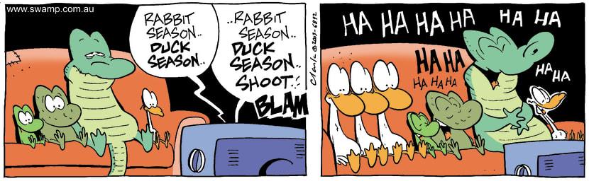 Swamp Cartoon - Hunting SeasonOctober 16, 2003