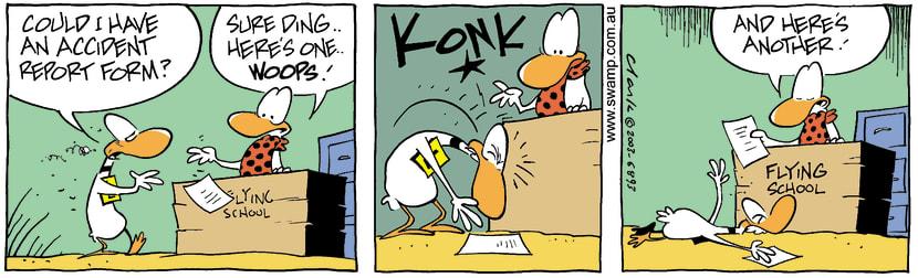 Swamp Cartoon - Ding Duck Accident AgainOctober 17, 2003