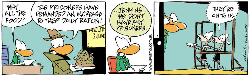 Swamp Cartoon - PrisonersOctober 21, 2003