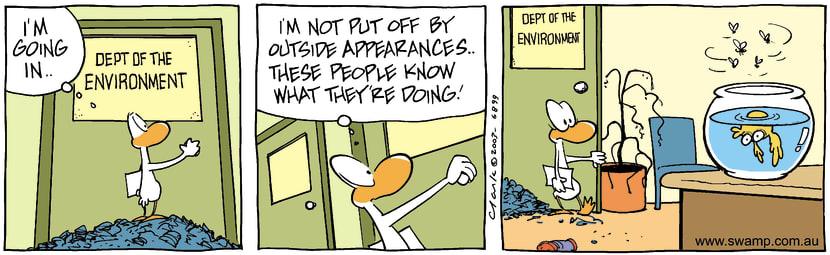 Swamp Cartoon - Environment 3October 24, 2003