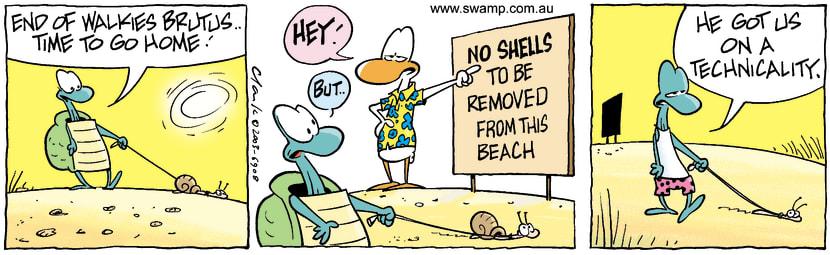 Swamp Cartoon - No ShellsNovember 4, 2003