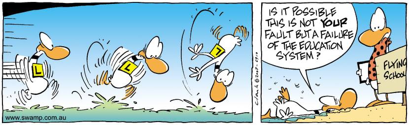 Swamp Cartoon - Failure 2November 13, 2003