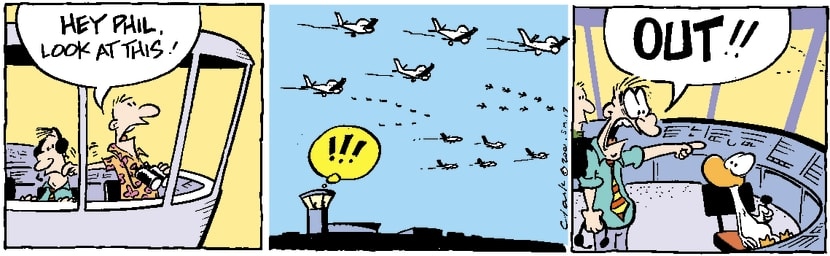 Swamp Cartoon - Air Traffic Control TowerNovember 19, 2003