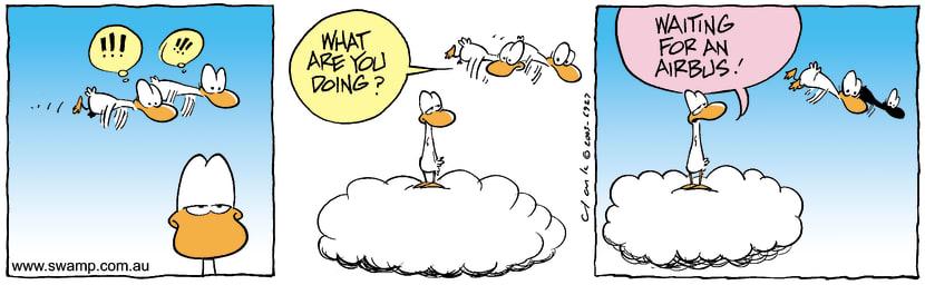 Swamp Cartoon - WaitingNovember 26, 2003