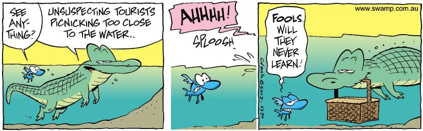 Swamp Cartoon - TouristsNovember 29, 2003