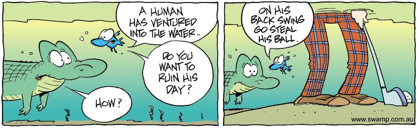 Swamp Cartoon - Water GolfDecember 1, 2003