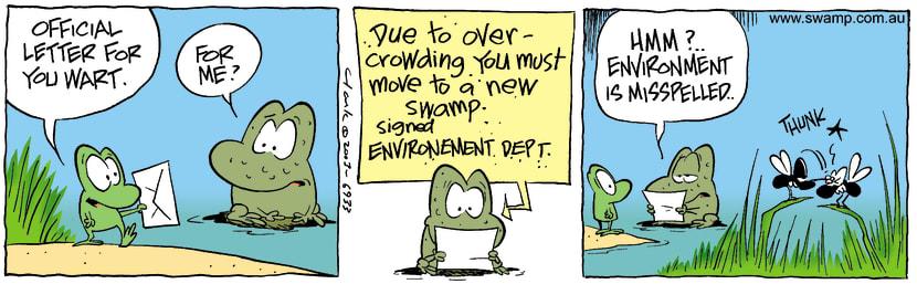 Swamp Cartoon - Wart LetterDecember 3, 2003