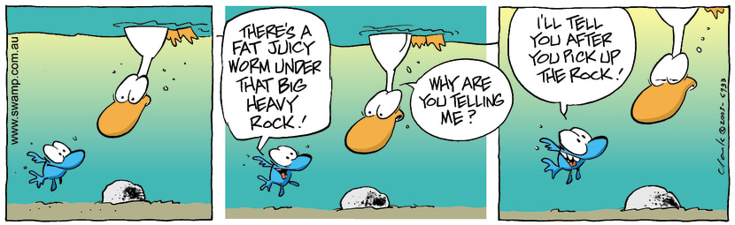 Swamp Cartoon - Juicy WormDecember 5, 2003