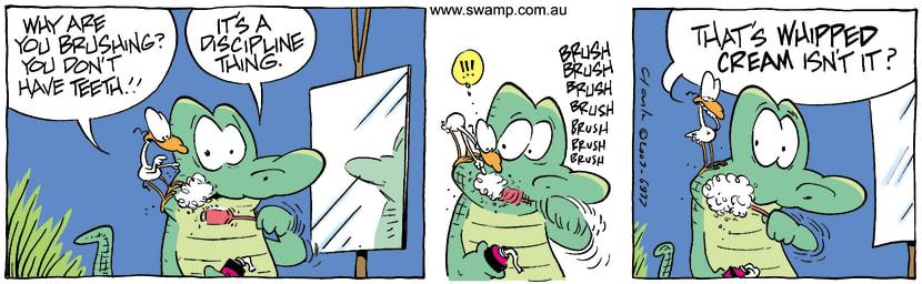 Swamp Cartoon - TeethDecember 8, 2003