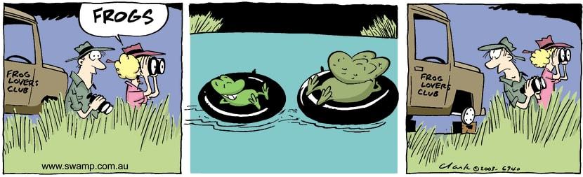 Swamp Cartoon - FrogsDecember 11, 2003