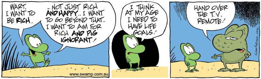 Swamp Cartoon - GoalsDecember 12, 2003