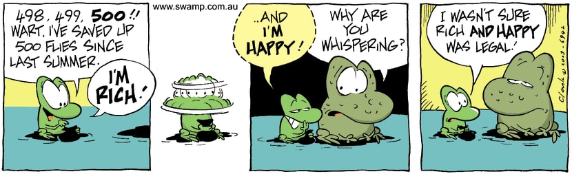 Swamp Cartoon - Rich 1December 13, 2003