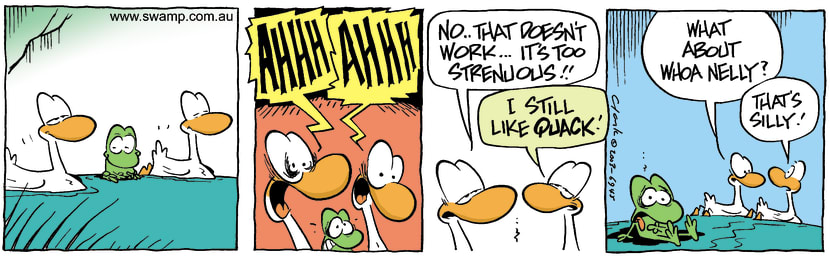 Swamp Cartoon - QuackDecember 17, 2003