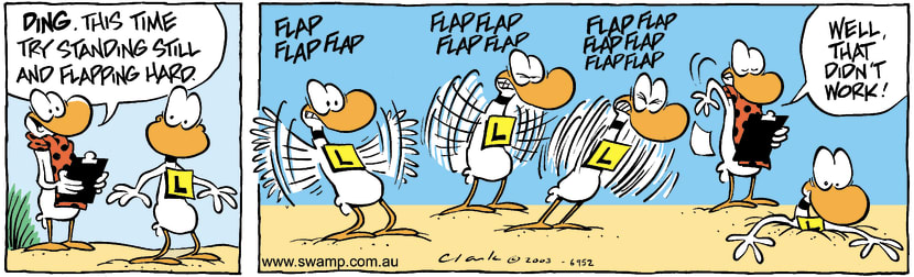 Swamp Cartoon - FlapDecember 25, 2003