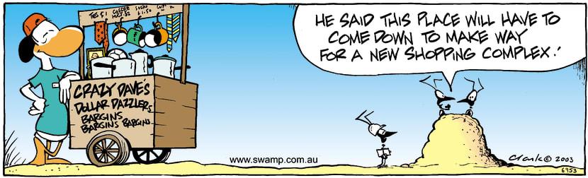 Swamp Cartoon - ConstructionDecember 26, 2003